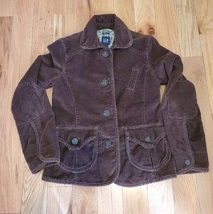 Gap short fitted corduroy jacket.